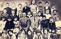 Kaunas Hebrew Realgymnasium second grade class with teachers Abraham Kisin & Y.L. Shochatman c. 1932.jpg
