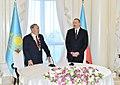 "Kazakh President Nursultan Nazarbayev presented with ""Heydar Aliyev"" Order 3.jpg"