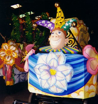 Krewe du Vieux - Krewe du Vieux title float.