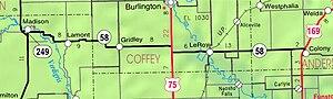 K-58 (Kansas highway) - K-58 on the 2005-06 KDOT State Highway Map