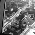 Kelet-Berlin, a Vörös városháza (Rotes Rathaus) a TV toronyból. Fortepan 60002.jpg