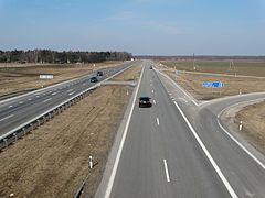 Kelias A2, ties Taujėnais