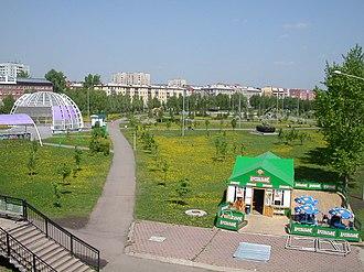 Kemerovo - Парк Победы (Park of Victory) or Парк имени Жукова (Zhukov's Park) in Kemerovo