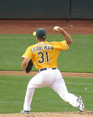 Kendall Graveman - Graveman pitching for Oakland in 2015.