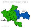 Khammam District Revenue divisions.png