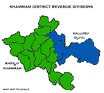 Khammam District Revenue divisions.png