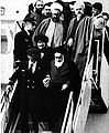Khomeini motahari tabatabaei ghotbzadeh Lahouti banisadr.jpg