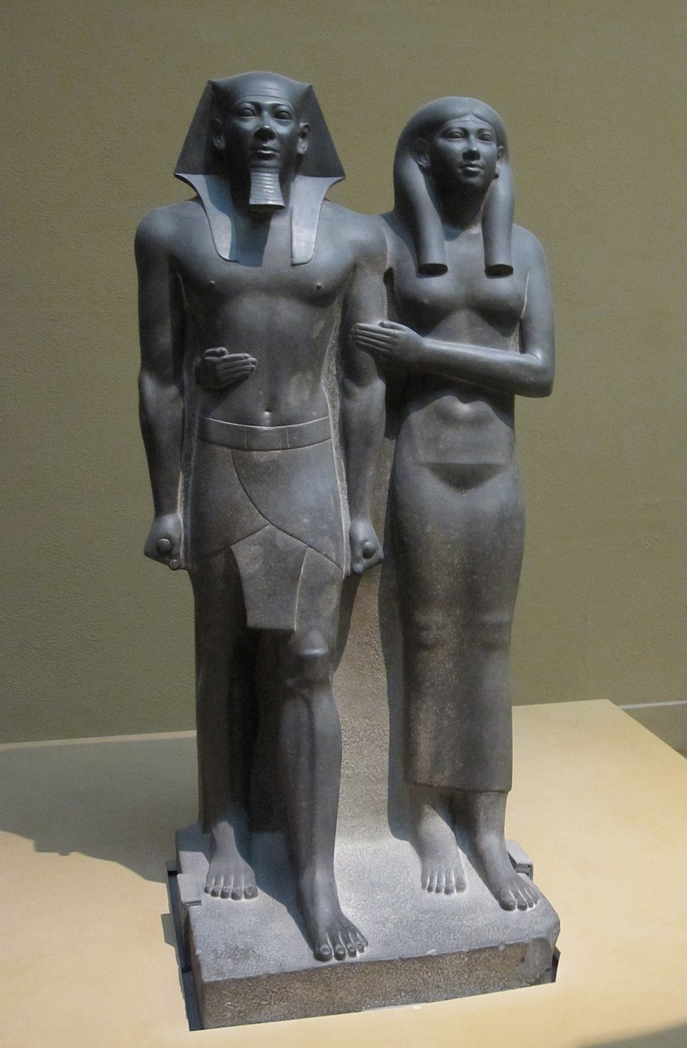 King Menkaura (Mycerinus) and queen
