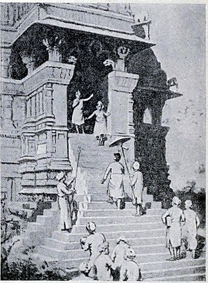 Duladeo Temple - A 19th century artist's depiction of king Kirttivarman visit to the temple in the 11th century CE