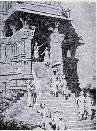 Chandela - A 20th century artist's imagination of Kirtivarman Chandela visiting a Khajuraho temple