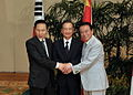 Korea, Japan, and China met at the Trilateral Summit in Thailand, April 2009.jpg