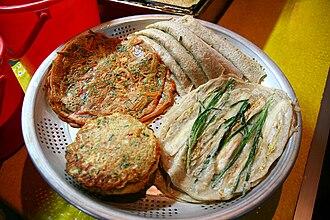 Buchimgae - Image: Korea Jeongseon Various Korean pancakes (jeon) 01