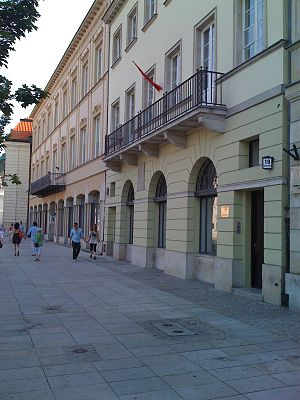 Wojciech Żywny - Krakowskie Przedmieście 19, Warsaw, Poland:  site of Żywny's 1837-42 home