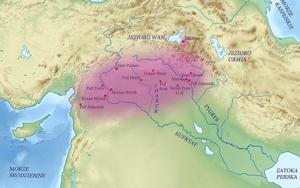 Kultura Halaf zasieg