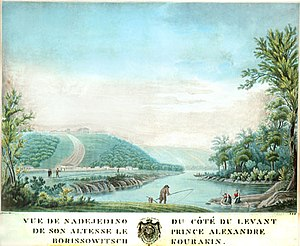 Joseph Mössmer - View of the Chateau of Prince Alexander Kurakin de Nadejdino, c. 1800
