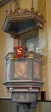 Fil:Kyrkan i Dalby, predikstol.jpg