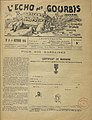 L'Echo des Gourbis October 1915 with a godmother certificate.jpg