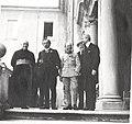 L'historien Louis Duchesne (1843-1922), à gauche, et le président du conseil français Aristide Briand, Collection Marie-Anne Miniac, Rennes, France..jpg