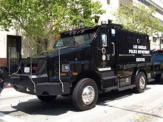 Los Angeles Police Department resources - LAPD RESCUE-1, belonging to the department's SWAT team.