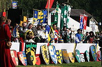 Coats of arms at a medieval reenactment