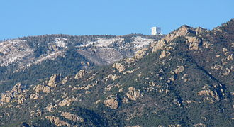 Graham County, Arizona - The Large Binocular Telescope on the summit ridge of the Pinaleno Mountains, Graham County.