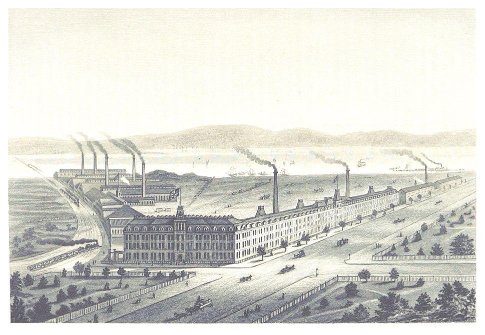 LOSSING(1876) p351 SINGER MANUFACTURING WORKS CO., ELIZABETHPORT, NJ