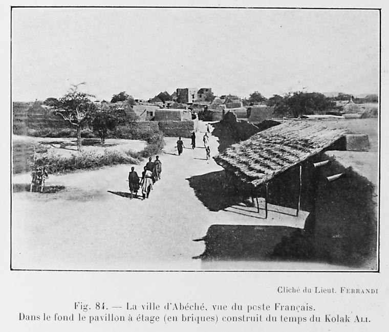 La ville d'Abéché, vue du poste Français