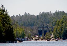 Dam at the mouth of the lady evelyn river
