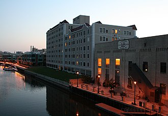 "Commercial sorghum - The back of Lakefront Brewery, Inc. (and Brewers' Point Apartments) in Milwaukee, makers of ""New Grist"" beer brewed with sorghum and rice."