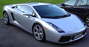 English: A silver Lamborghini Gallardo Deutsch...
