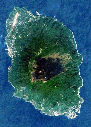Izu Ōshima - Image: Landsat Izu Oshima Island