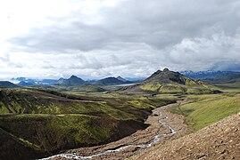 Landscape during Laugavegur hiking trail 3