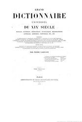Larousse - Grand dictionnaire universel du XIXe siècle - Rhy-Rz