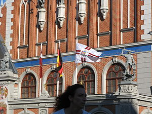 Flag of Latvia - Image: Latvian presidential standard at the presidential chancellery