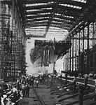 Launch of USS Saipan (CVL-48) at the New York Shipbuilding Corporation on 8 July 1945.jpg