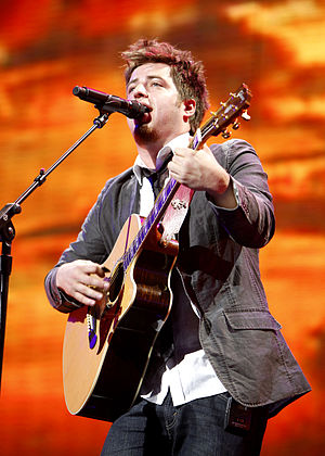 Lee DeWyze - DeWyze performing in June 2010.