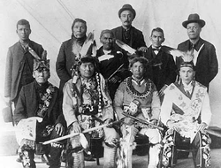 Leech Lake Chippewa delegation to Washington 1899.png