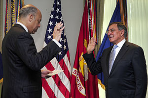 Jeh Johnson - Johnson swears in Leon Panetta as Secretary of Defense.