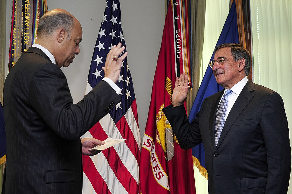 Leon Panetta swearing in ceremony