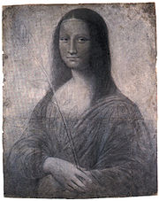 A cartoon for Mona Lisa attributed to Leonardo
