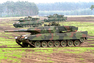 Main battle tank - German Army Leopard 2A5 main battle tanks in August 2010