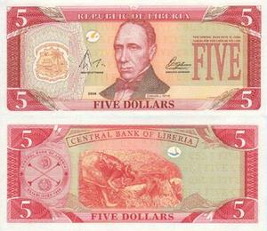 Liberian dollar - Image: Lib 5$