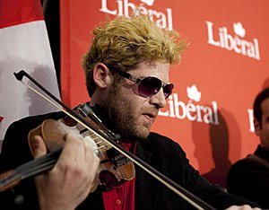 Ashley MacIsaac - MacIsaac playing at a 2011 Liberal Campaign Rally with Michael Ignatieff.