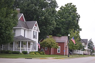 Covington Residential Historic District - Houses on Liberty Street