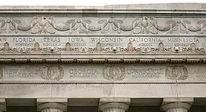Ernest C. Bairstow - Detail of the bas-relief frieze on the Lincoln Memorial