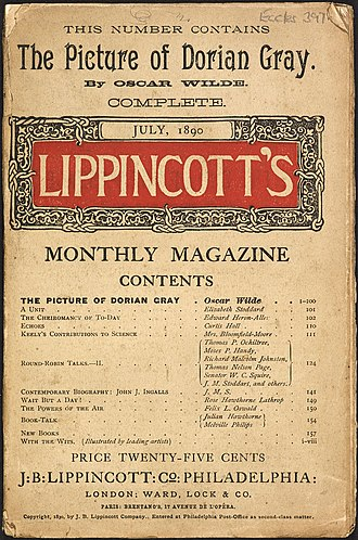 "The Picture of Dorian Gray - The Picture of Dorian Gray was first published in the July 1890 issue of ""Lippincott's Monthly Magazine""."