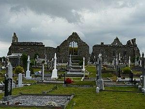 Ballylongford - Lislaughtin Abbey ruins and modern cemetery