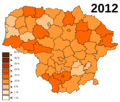 Lithuania unemployment in 2012.png