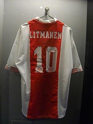 Jari Litmanen - Jari Litmanen's Ajax shirt in the Sports Museum of Finland