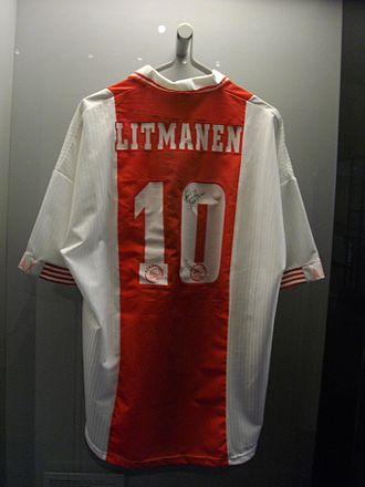 Jari Litmanen - Jari Litmanen's Ajax shirt in the Sports Museum of Finland